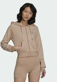 adidas Originals - Zip-up sweatshirt - beige - 0