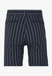 Burton Menswear London - CHARCOAL STRIPE BELTED OXFORD - Shorts - grey - 1