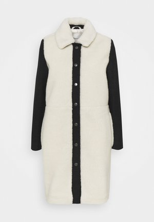 CAMDEN COAT WITH SLEEVES - Classic coat - offwhite/black