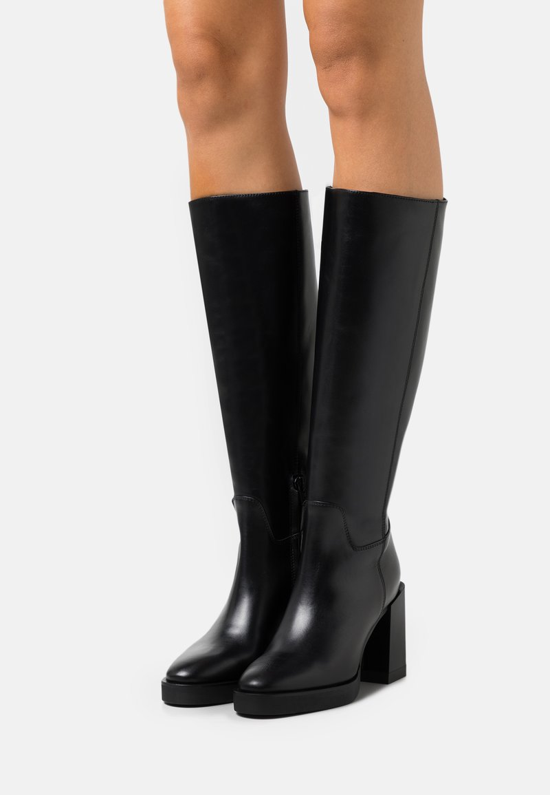 Furla - GRETA HIGH BOOT  - Platform boots - nero