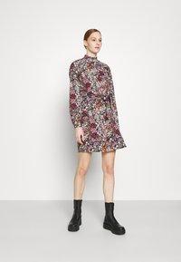 Vero Moda - VMSELMA SHORT HIGH NECK DRESS  - Day dress - wild rose/selma - 0