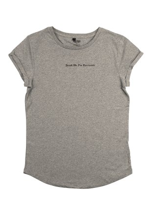 SPANK - T-shirt print - mottled grey