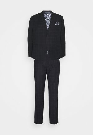 WINDOWPANE SUIT PLUS - Completo - blue