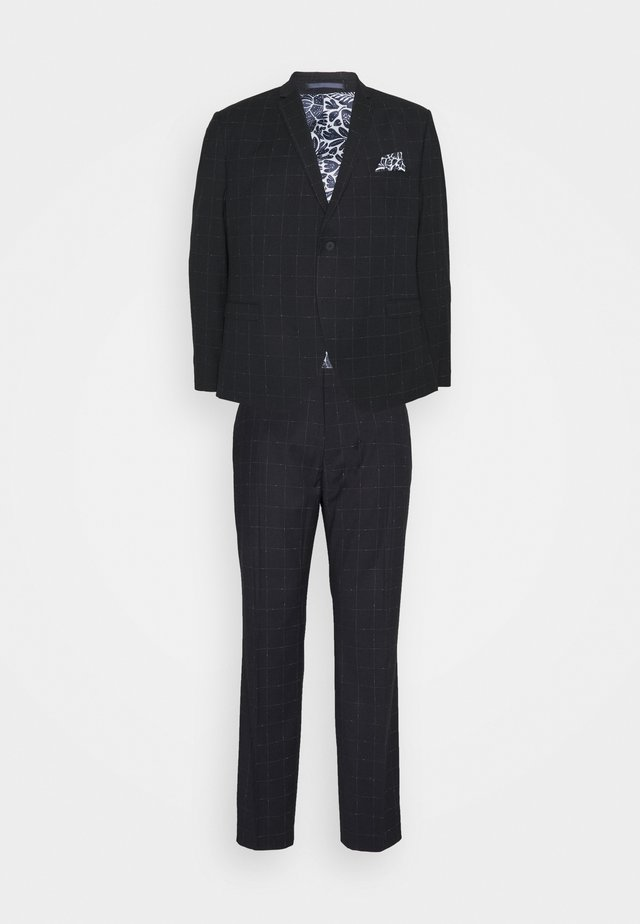WINDOWPANE SUIT PLUS - Traje - blue