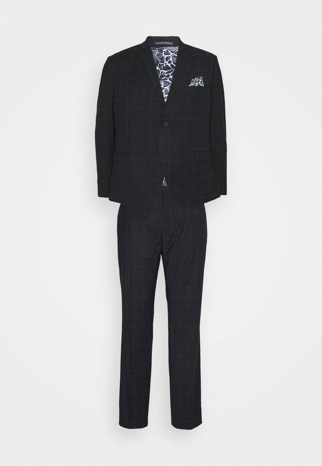 WINDOWPANE SUIT PLUS - Suit - blue