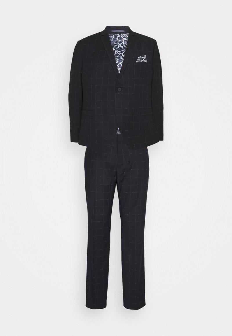Isaac Dewhirst - WINDOWPANE SUIT PLUS - Suit - blue