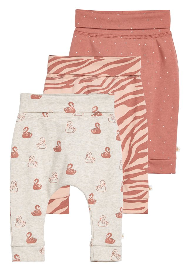 RUST 3 PACK SWAN JOGGERS (0MTHS-3YRS) - Leggings - Trousers - orange