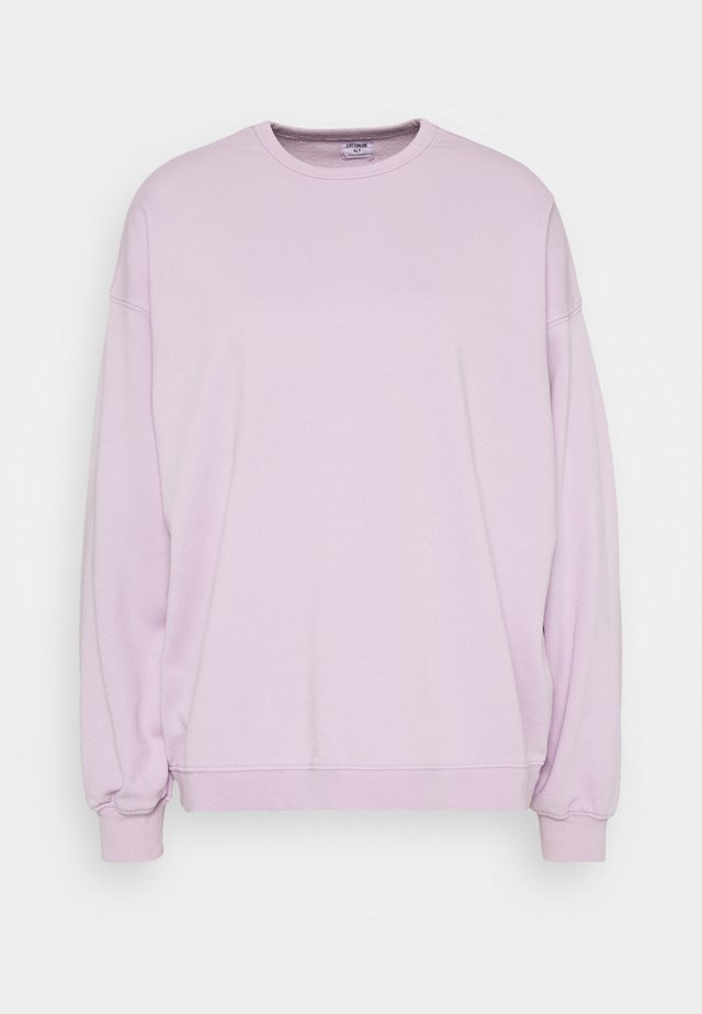 OVERSIZED SUPER SLOUCH CREW - Bluza - frosty lilac