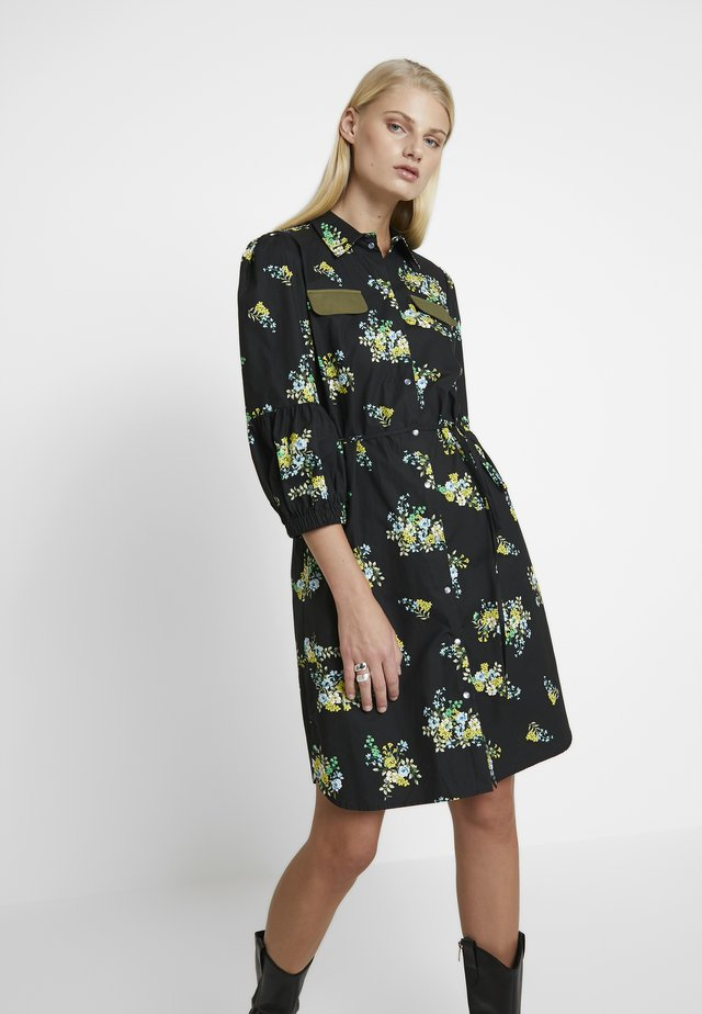 SIENNA DRESS - Shirt dress - black