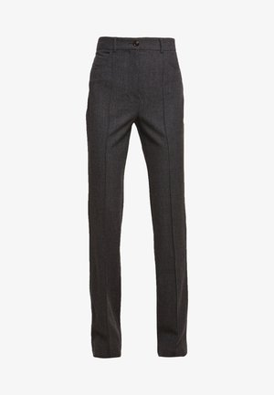 Trousers - charcoal black