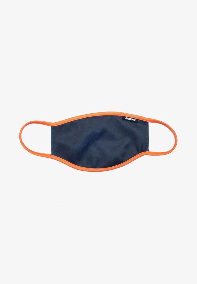 Stoffen mondkapje - grey/orange