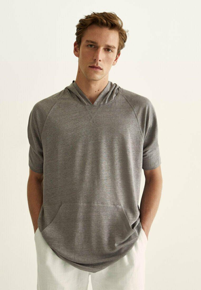 Massimo Dutti - Basic T-shirt - grey