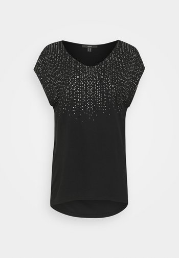 FOIL TEE - Print T-shirt - black