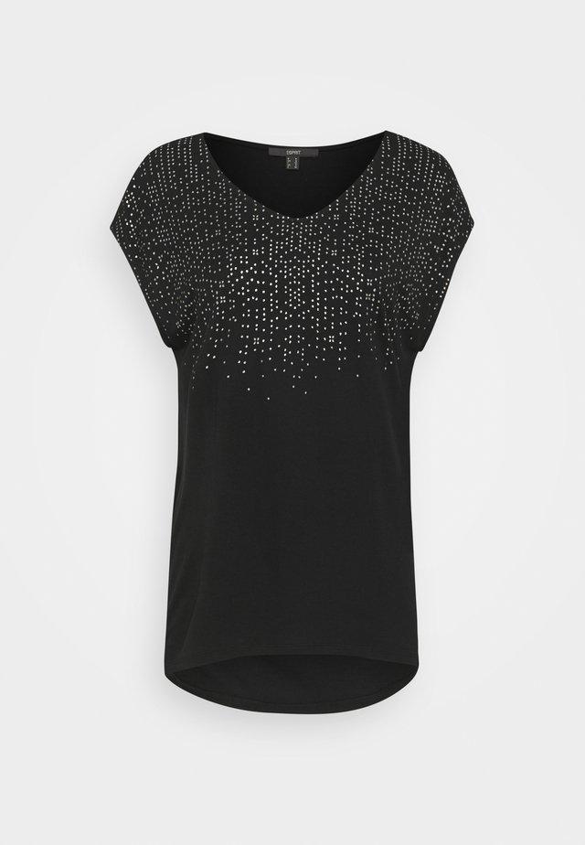 FOIL TEE - Camiseta estampada - black