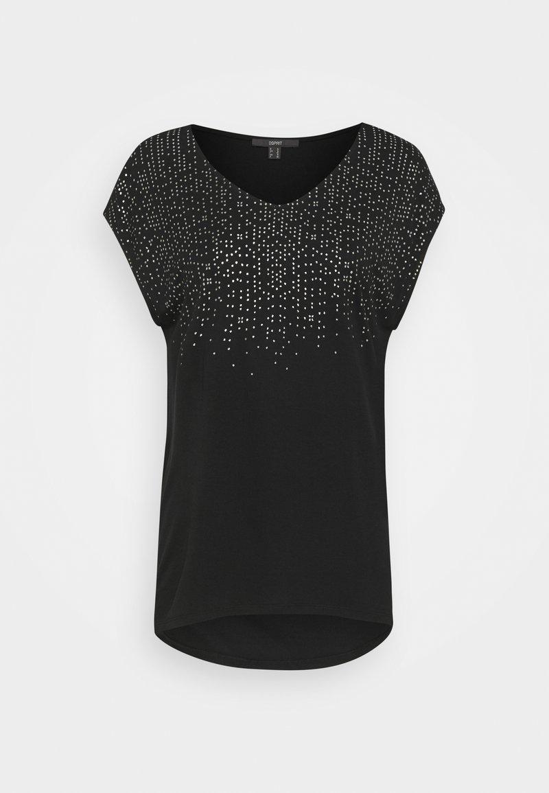 Esprit Collection - FOIL TEE - Print T-shirt - black