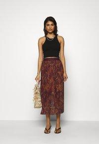 Mos Mosh - PLISSÉ SKIRT - A-line skirt - purple - 1