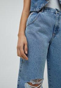PULL&BEAR - Jeans a sigaretta - mottled dark blue - 3