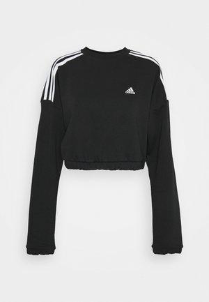 CROP CREW - Sweater - black