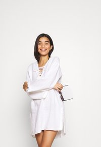 Seafolly - BEACH EDIT HARBOUR COVER UP - Beach accessory - white - 3