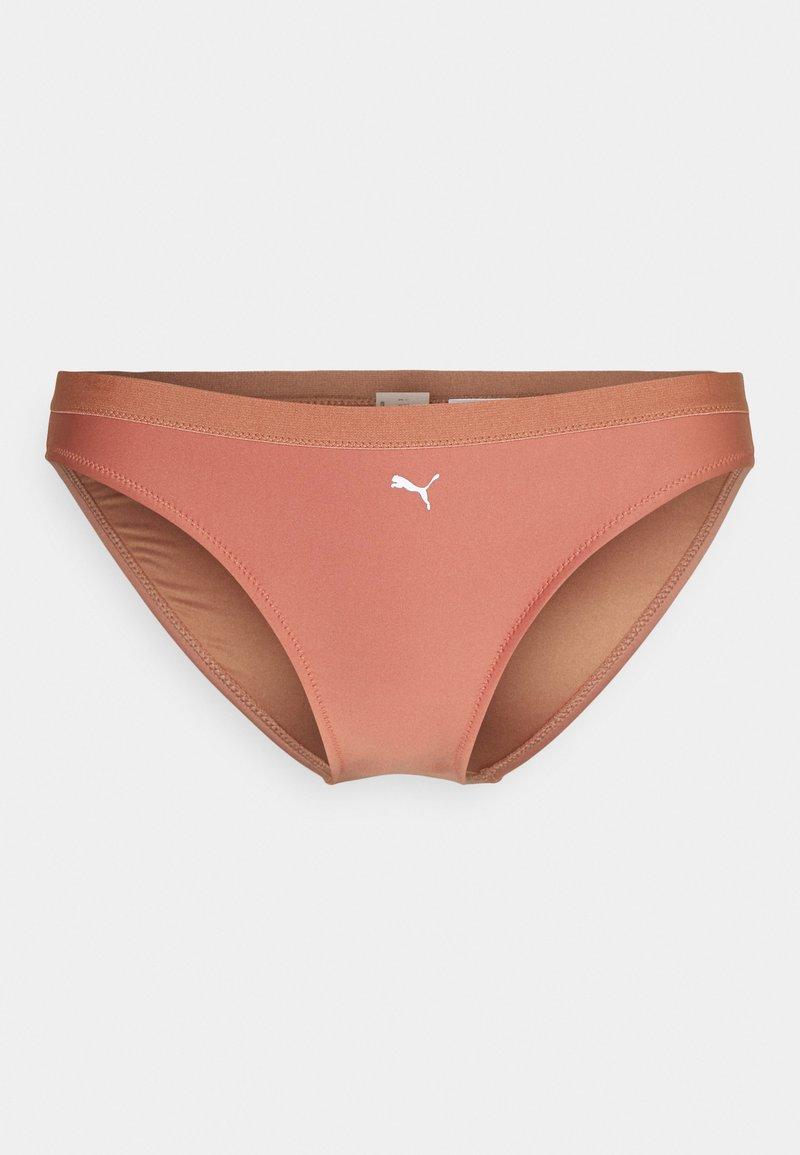 Puma - SWIM WOMEN BRIEF - Bikini bottoms - brown