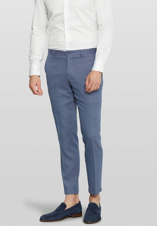 Dixon Split - Suit trousers - blue