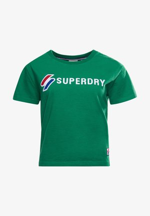 Print T-shirt - galvinised green