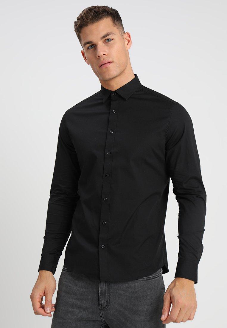 Solid - TYLER - Formal shirt - black