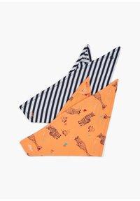 s.Oliver - 2 PACK - Bib - dark blue stripes/orange aop - 1