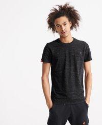 Superdry - VINTAGE  - T-shirt print - vast black space dye - 0