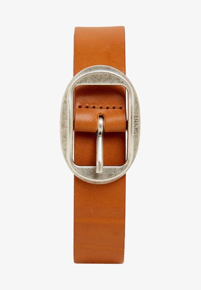 MIT VINTAGE-SCHNALLE, AUS LEDER - Belt - rust brown