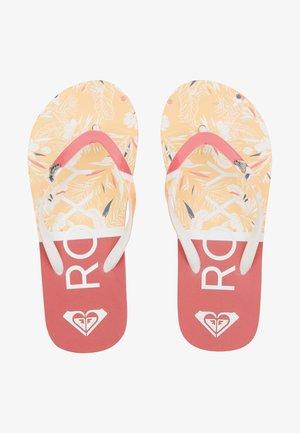 PEBBLES  - T-bar sandals - living coral