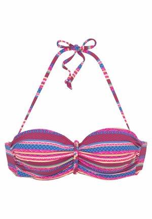 WIRE BANDEAU - Bikini top - bordeaux