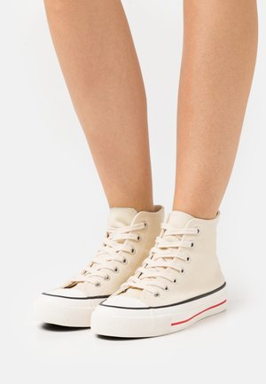 BRITT RETRO - High-top trainers - ecru