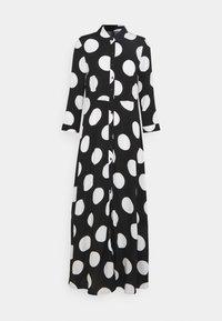 YAS - YASSAVANNA DOT LONG SHIRT DRESS - Maxi dress - black/white - 4
