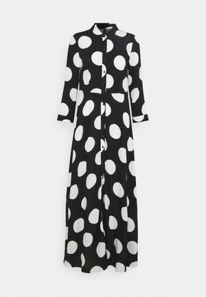 YASSAVANNA DOT LONG SHIRT DRESS - Maxi šaty - black/white