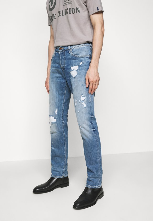 NEW ROCCO DESTROYED - Jeans straight leg - light blue