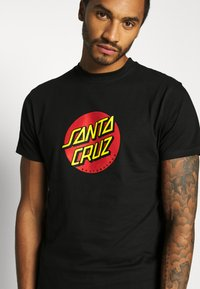 Santa Cruz - UNISEX CLASSIC DOT  - Print T-shirt - black - 4