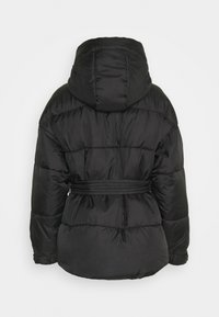 Missguided Petite - SELF BELTED PUFFER - Winter jacket - black - 1