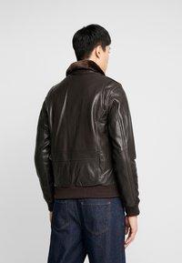 Serge Pariente - PILOT - Leather jacket - dark brown - 2