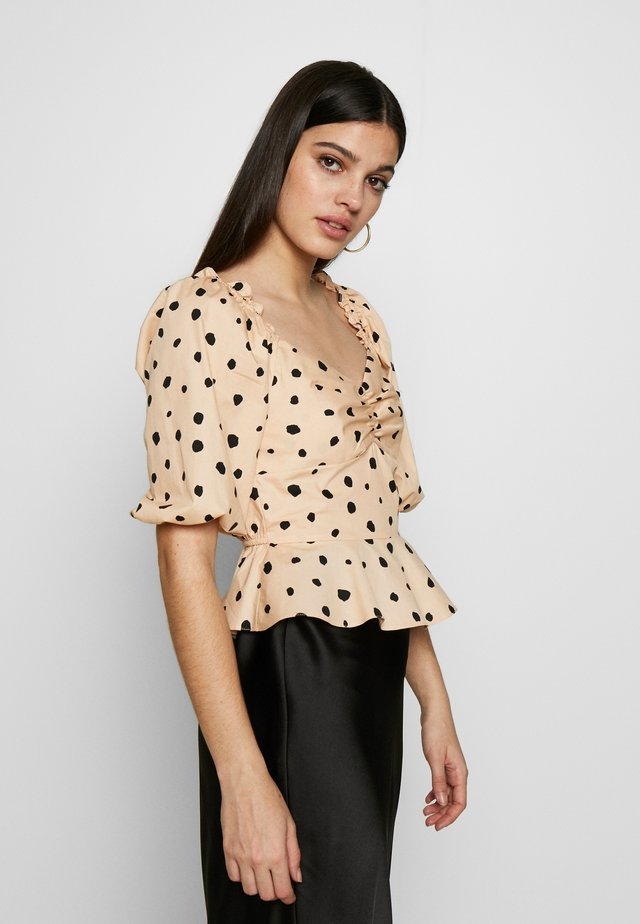 BLOUSON SWEETHEARTNON ANIMAL - Blusa - beige