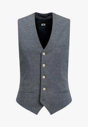 MET STRUCTUUR - Waistcoat - grey