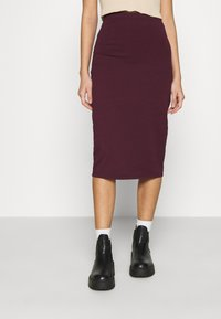 Even&Odd - 2 PACK - Pencil skirt - black/bordeaux - 4