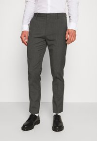 Burton Menswear London - SLIM 2 PACK - Kangashousut - black/grey - 1