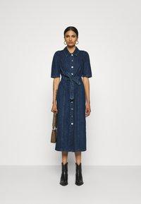 ONLY - ONLCLARITY LIFE PUFF - Vestito di jeans - dark blue denim - 1