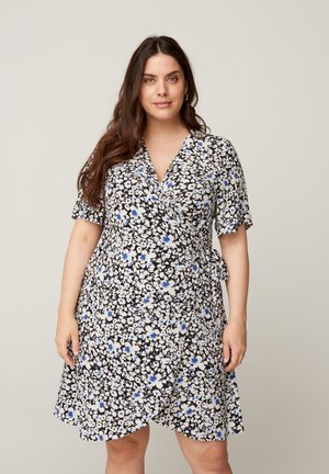 WITH A FLORAL PRINT - Day dress - black