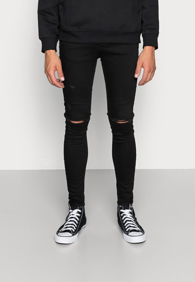 Gym King - DISTRESSED  - Jeans Skinny Fit - black