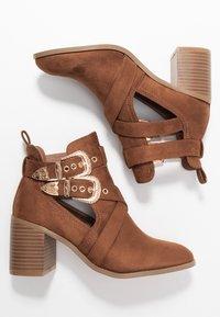 Miss Selfridge - CUT OUT - Ankle boots - tan - 3