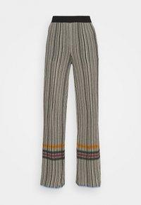 M Missoni - TROUSERS - Trousers - grey/orange - 4