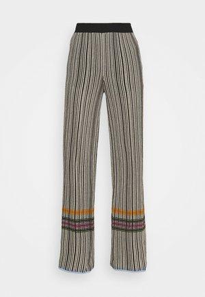 TROUSERS - Trousers - grey/orange