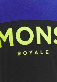 Mons Royale - REDWOOD ENDURO - Triko spotiskem - ultra blue/black - 2